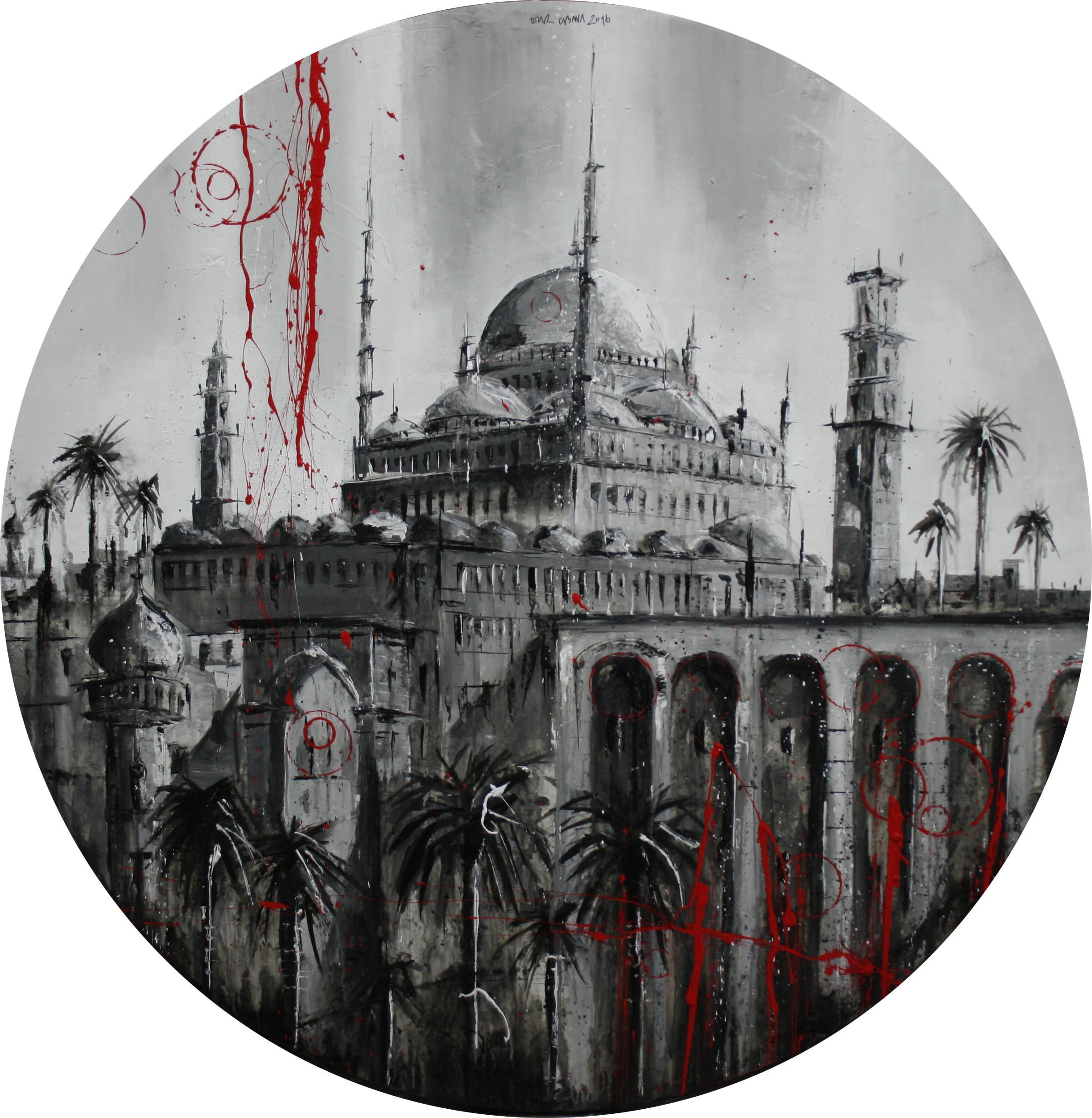 1017_mezquita_100cm_mixta sobre lienzo
