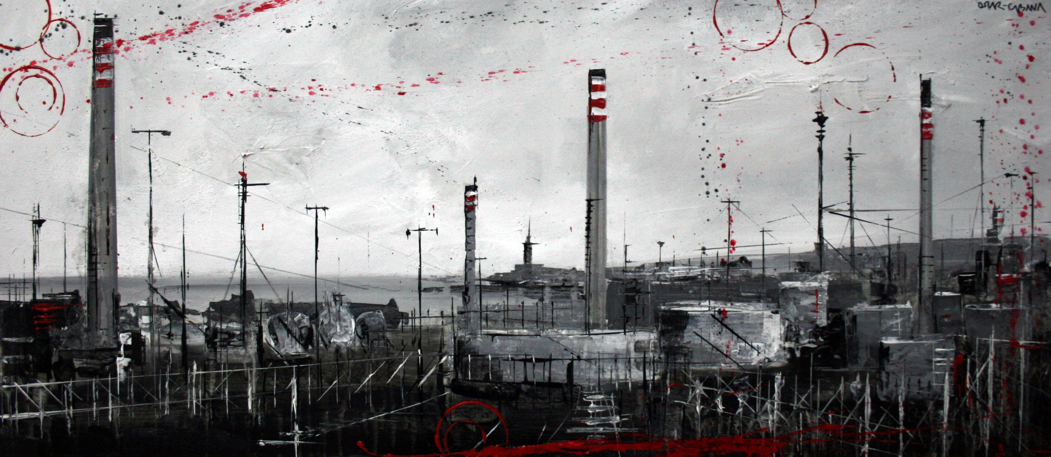 1197_refinería_90x40cm_mixta sobre lienzo