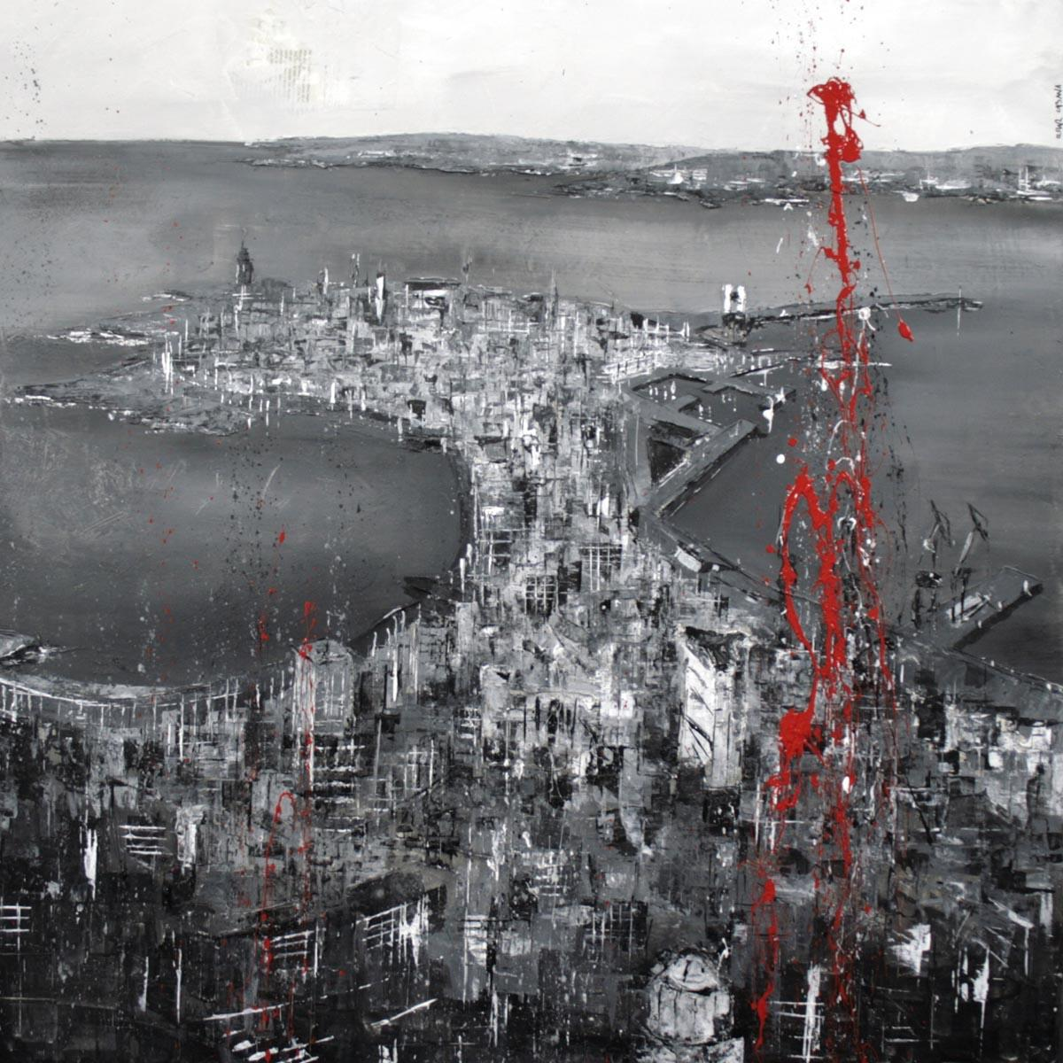 570_coruña_95x95cm_mixted on canvas