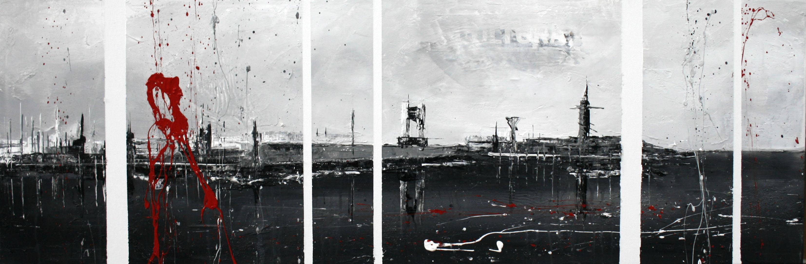596_coruña_90x30cm_mixed on canvas
