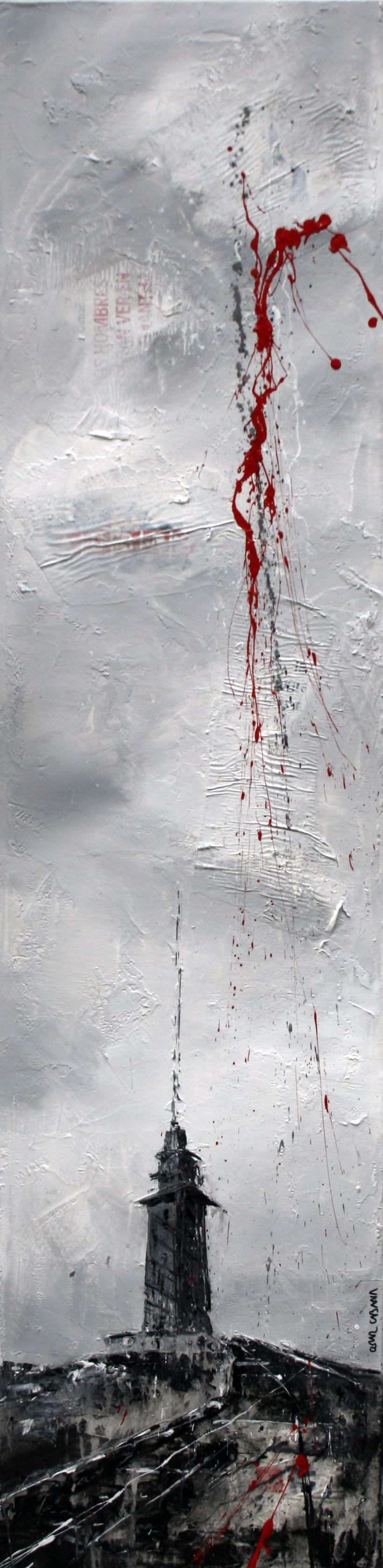 606_torre_30x120cm_mixed on canvas