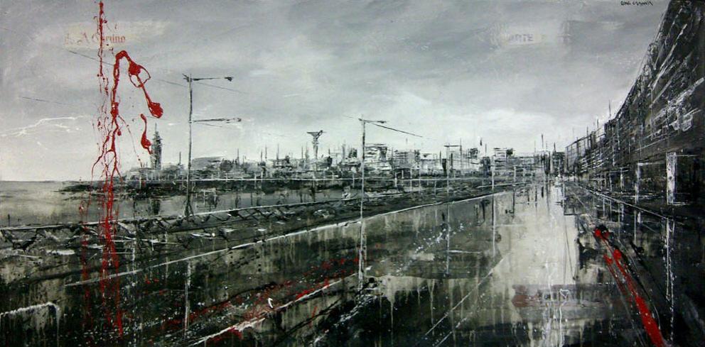 625_paseo marítimo_140x70cm_mixed on canvas