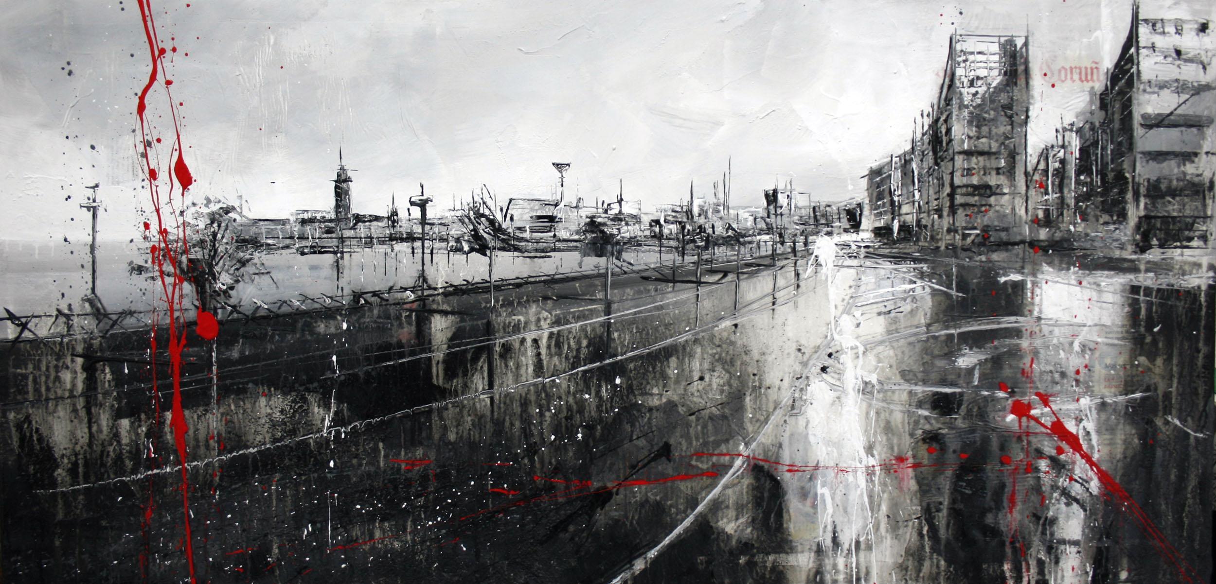 700_coruña_100x50cm_mixed on canvas