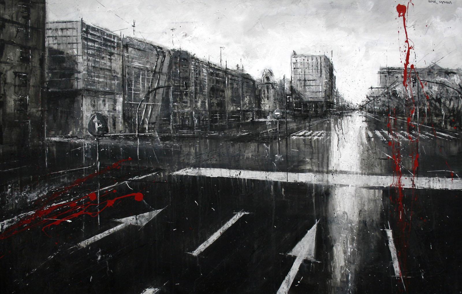703_cantón grande_145x95cm_mixed on canvas