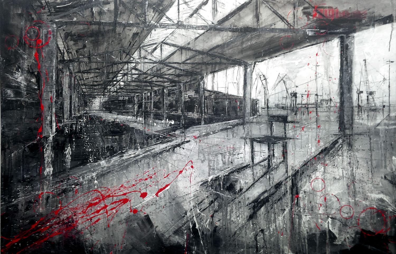 729_la ruina_145x95cm_mixed on canvas