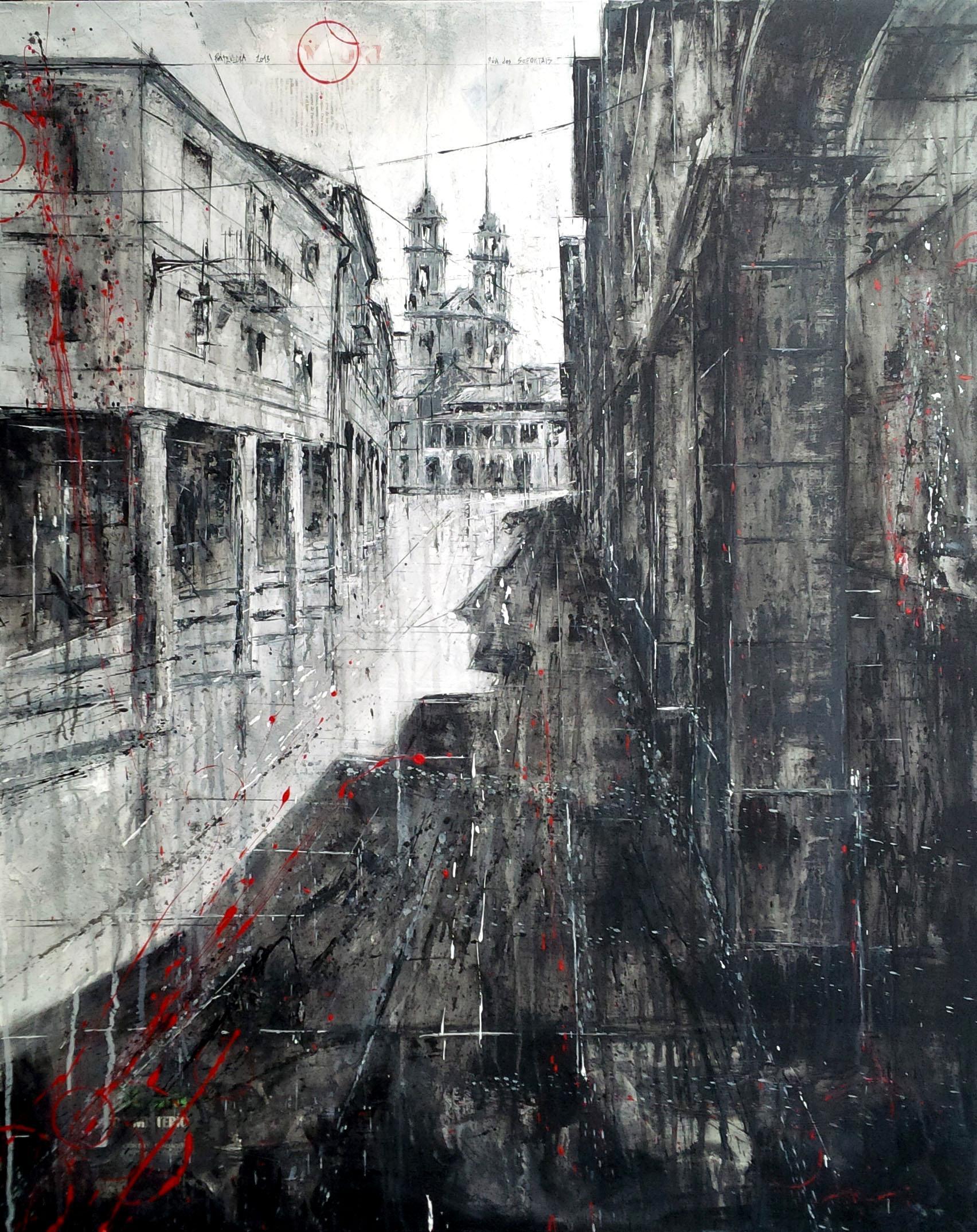 730_rúa dos soportais_80x100cm_mixed on canvas