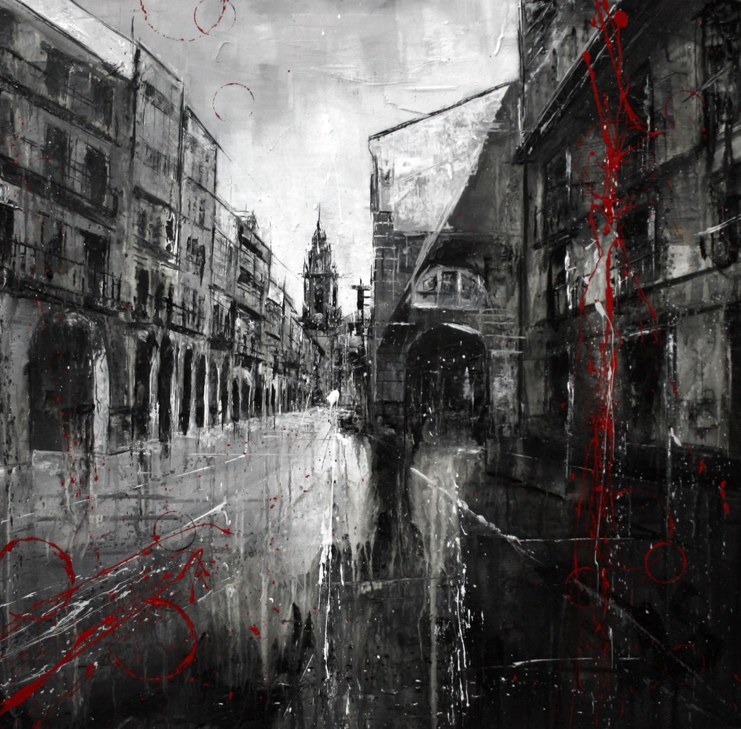 753_rua do vilar_90x90cm_mixta sobre lenzo