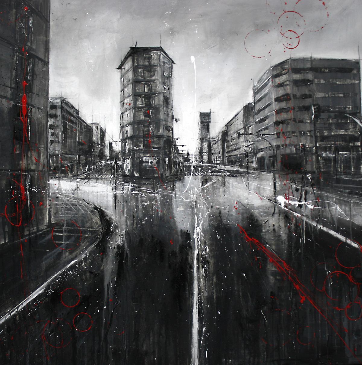 782_entrando en orense_100x100cm_mixed on canvas