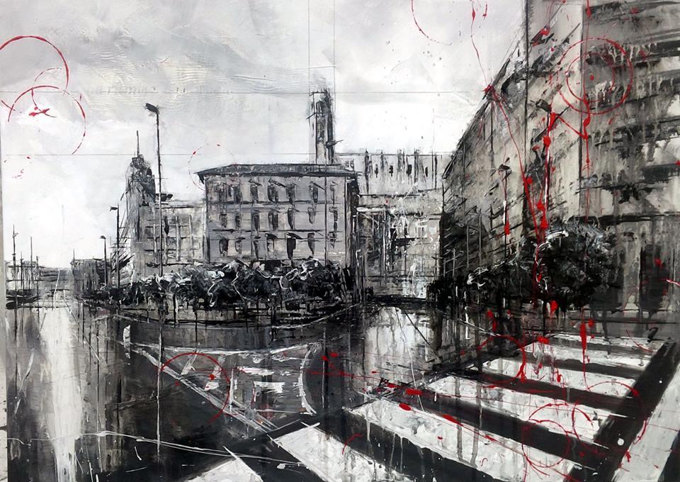 784_esquina carrer riquer-avenida del segre_70x50cm_mixed on canvas