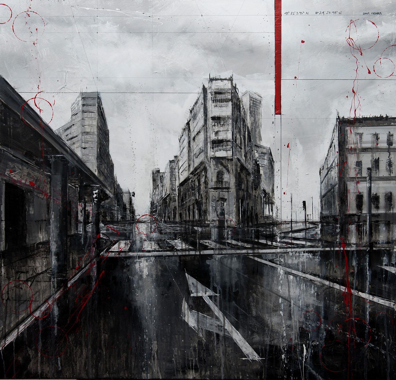 810_modesta goicouría_95x95cm_mixed on canvas