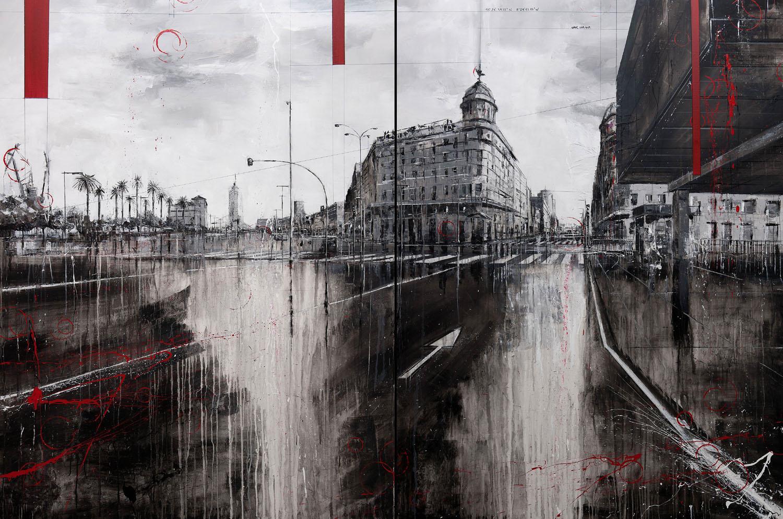 815_plaza de mina_260x180cm_mixed on canvas