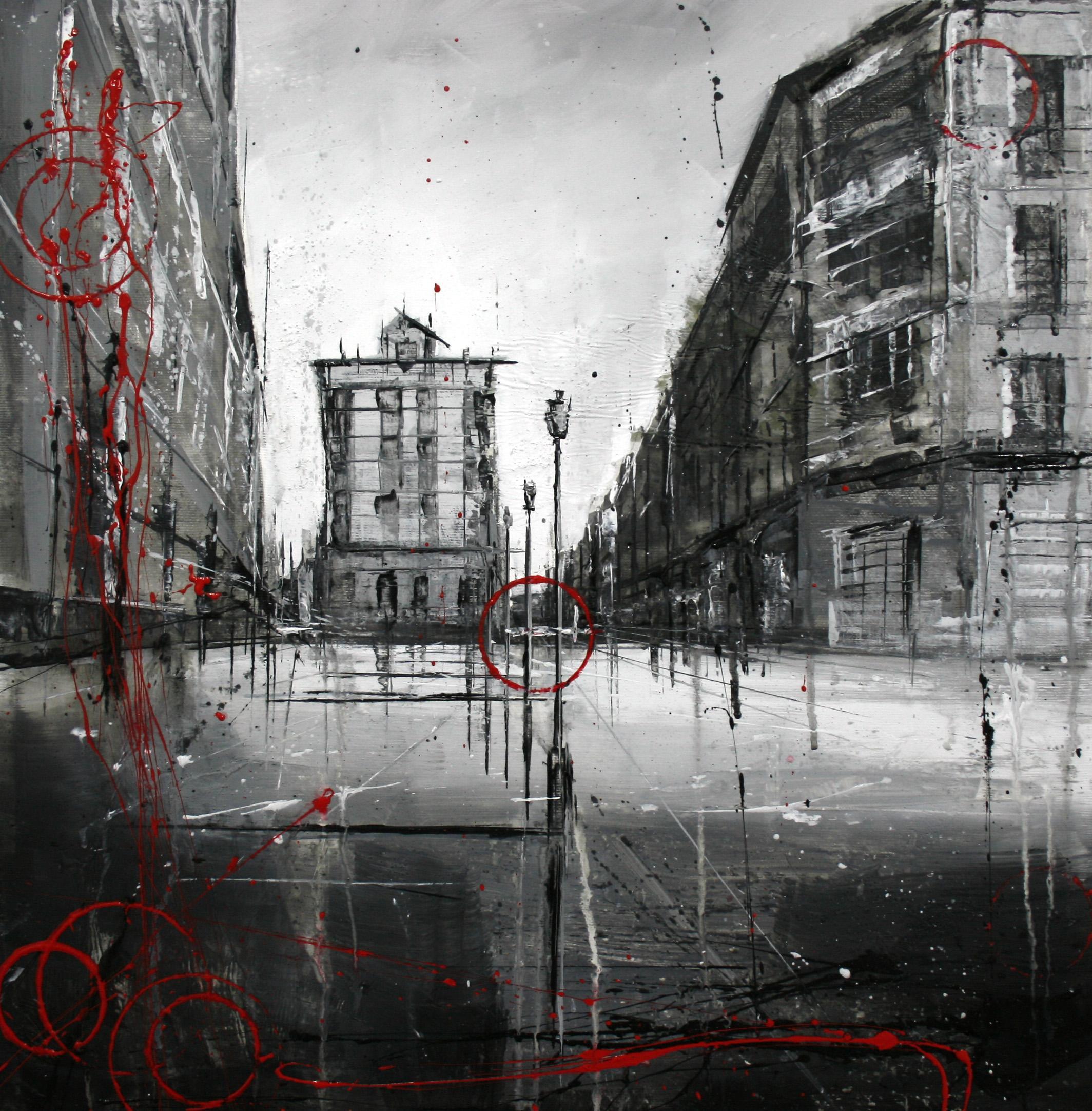 821_calle renova_50x50cm_mixta sobre lienzo