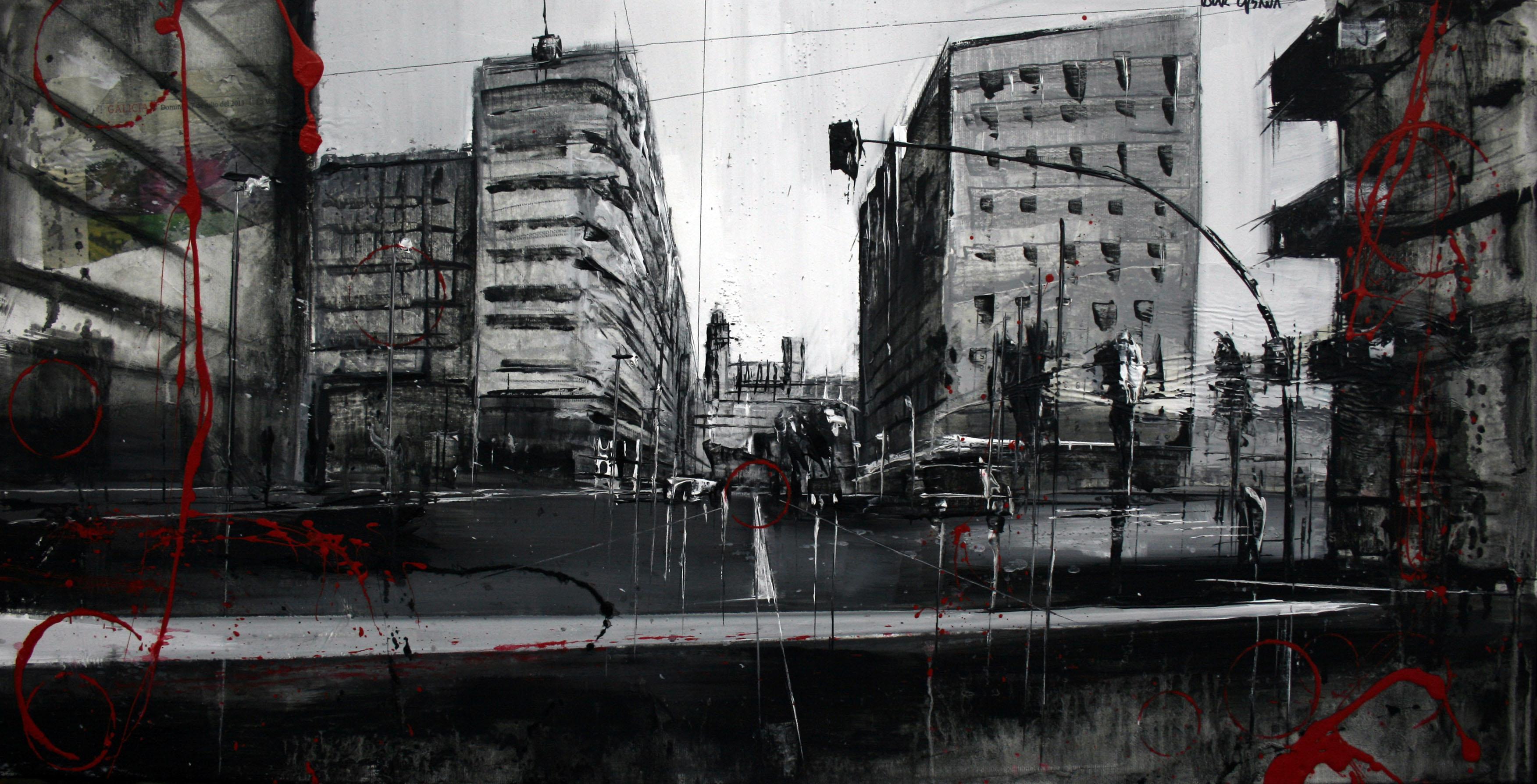 860_avenida garrigues_80x40cm_mixta sobre lienzo