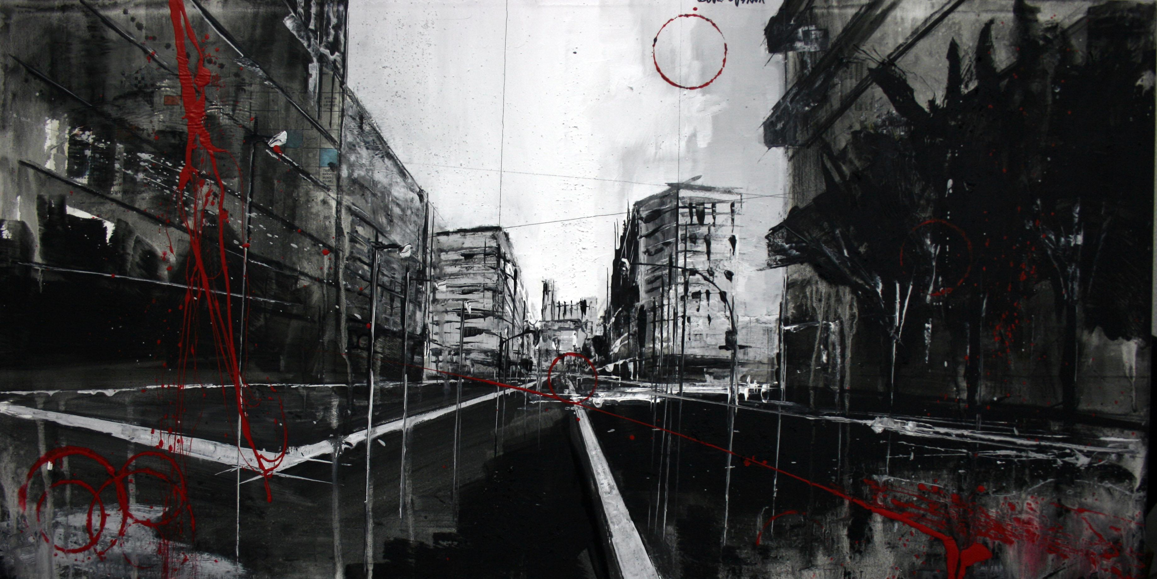 861_avenida garrigues_80x40cm_mixta sobre lienzo