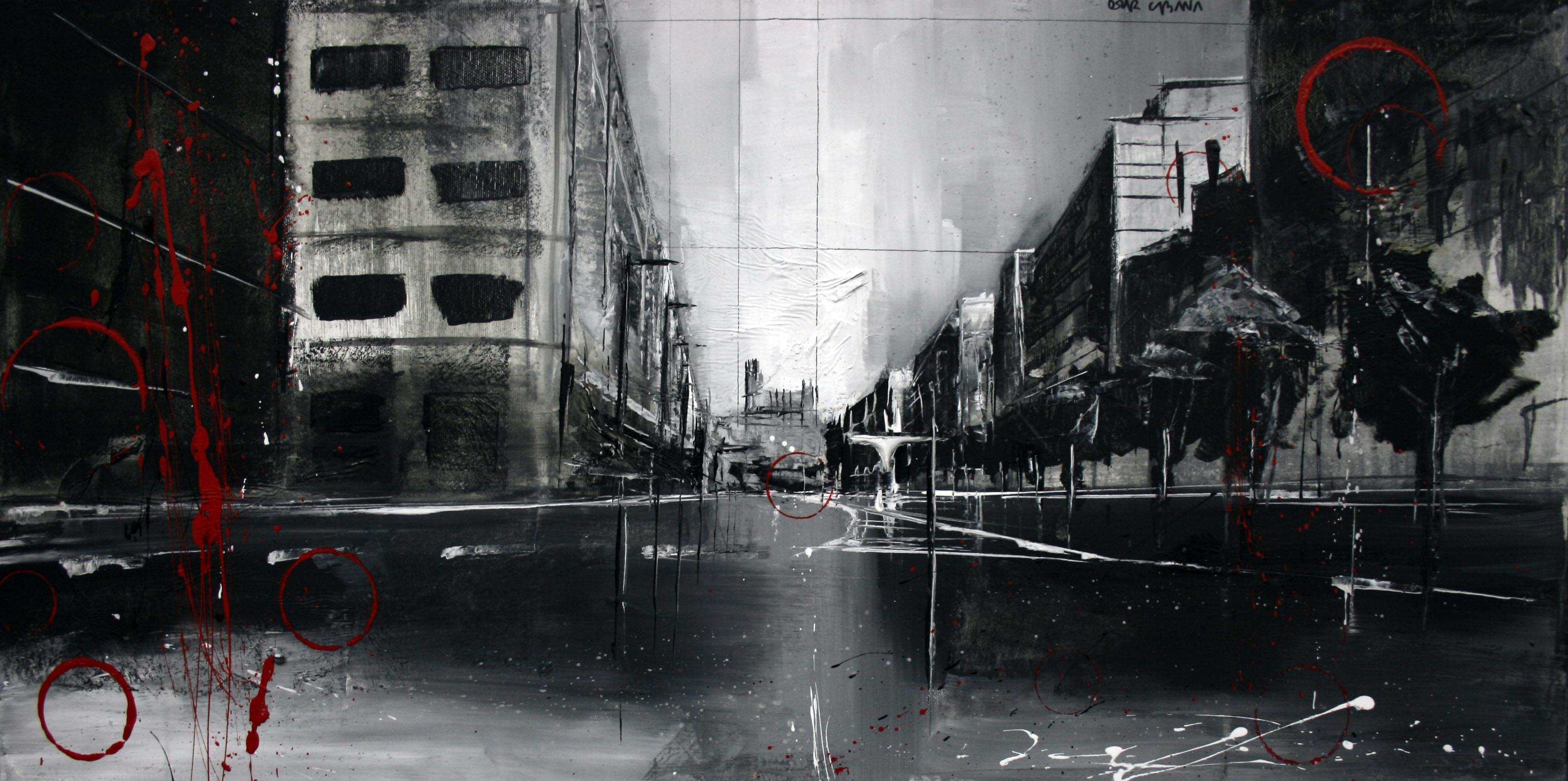863_avenida garrigues_80x40cm_mixta sobre lienzo