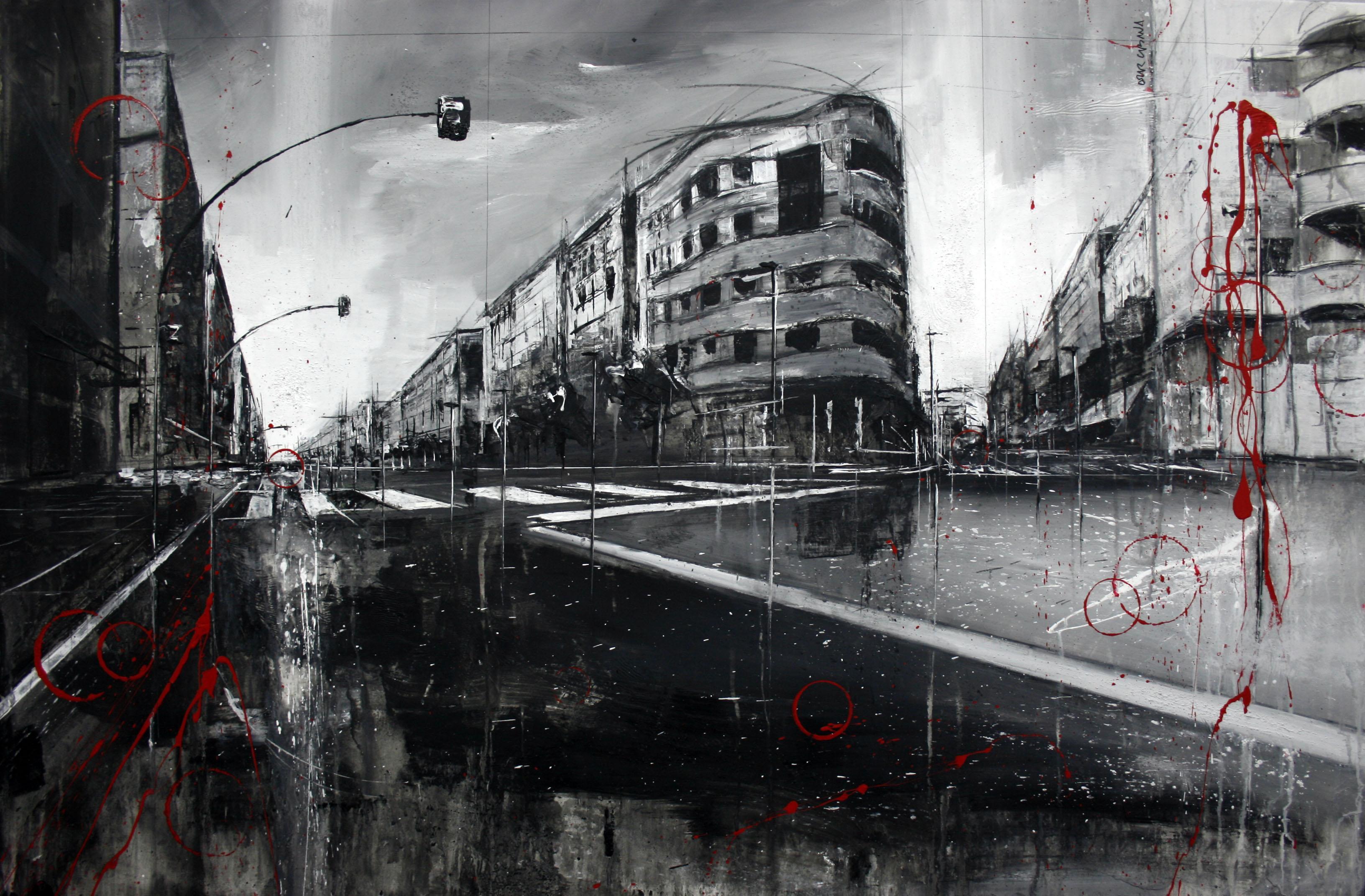 864_carrer principep de viana_120x80cm_mixta sobre lienzo