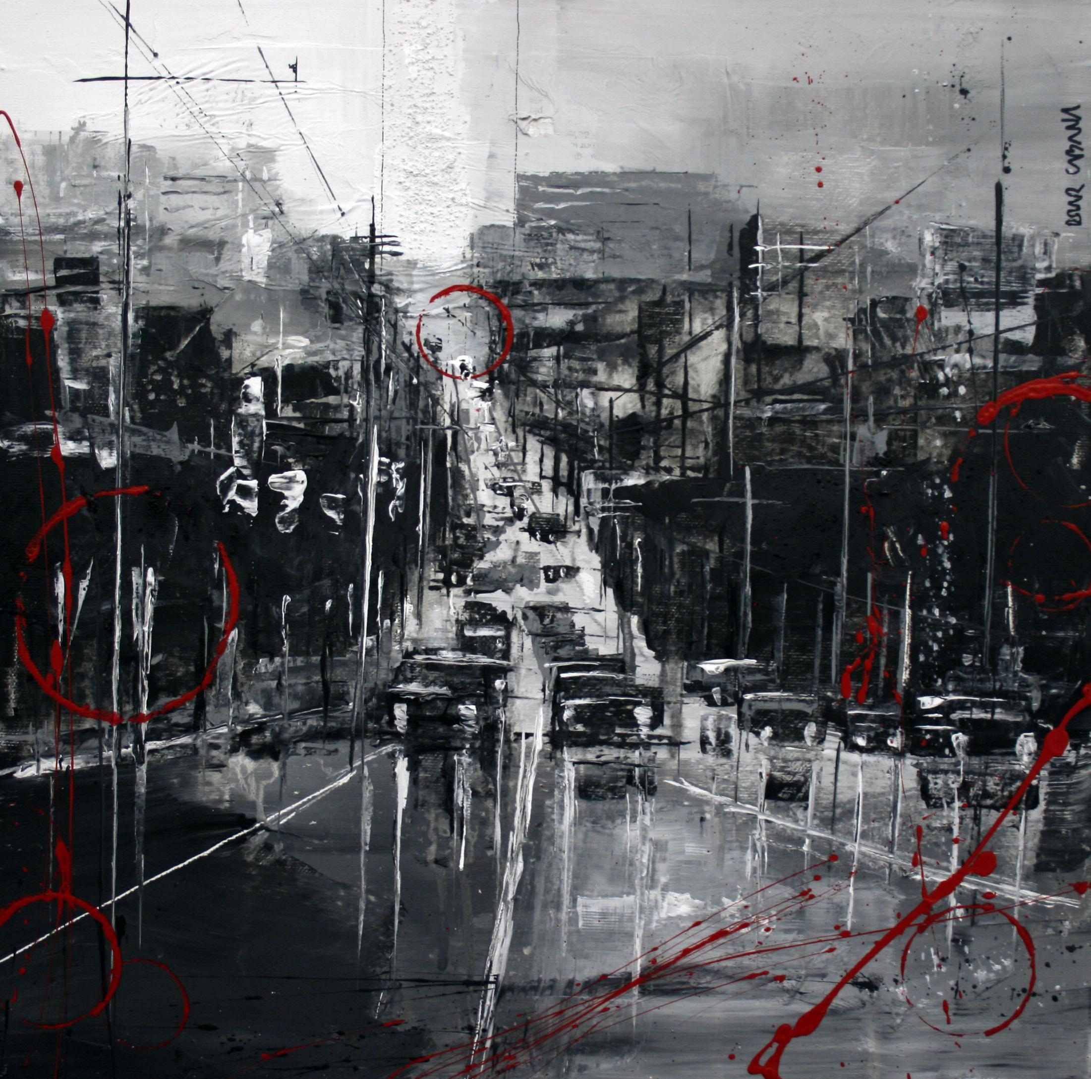 868_calle cualquiera_40x40cm_mixta sobre lienzo