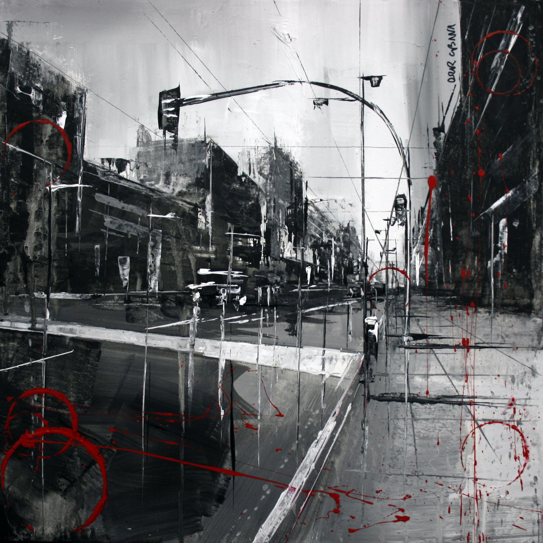 870_avenida de catalunya_40x40cm_mixta sobre lienzo