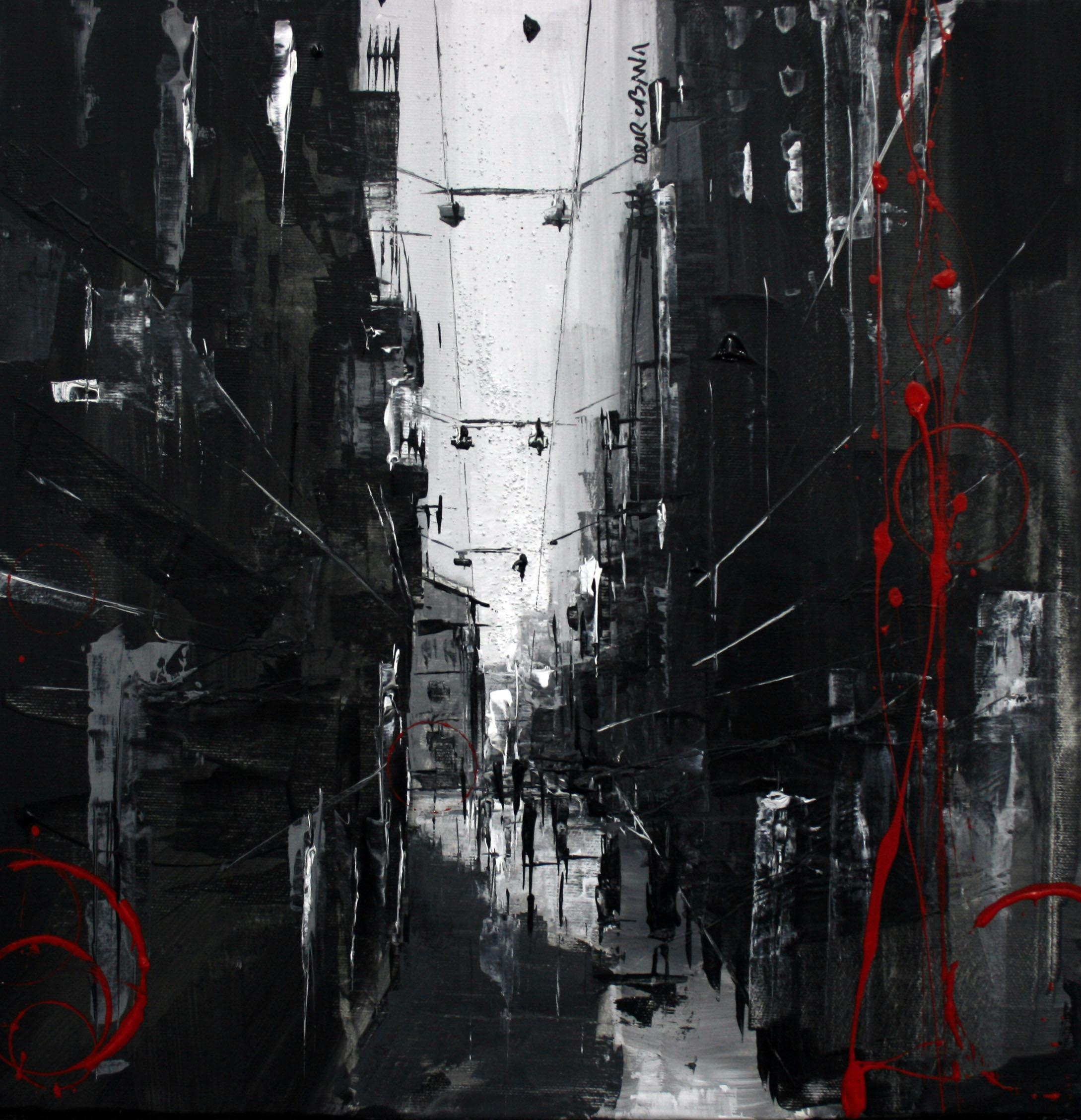872_carrer del carme_40x40cm_mixta sobre lienzo