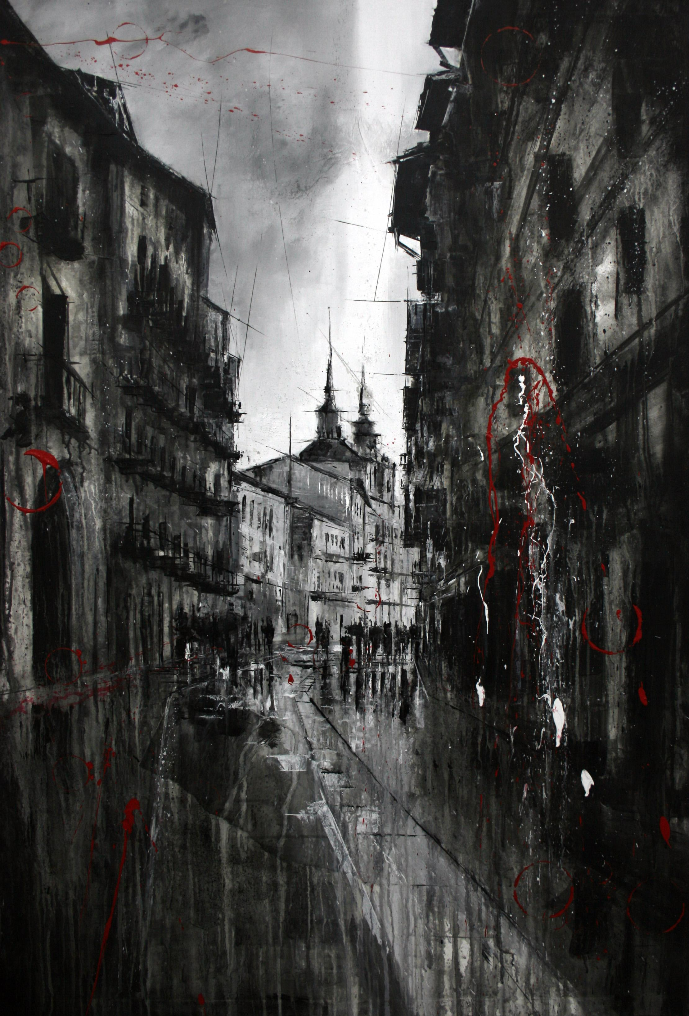 960_el burgo de osma_96x140cm_mixed on canvas
